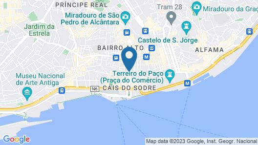 Martinhal Lisbon Chiado Map
