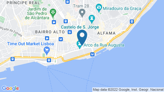 Pestana CR7 Lisboa Map