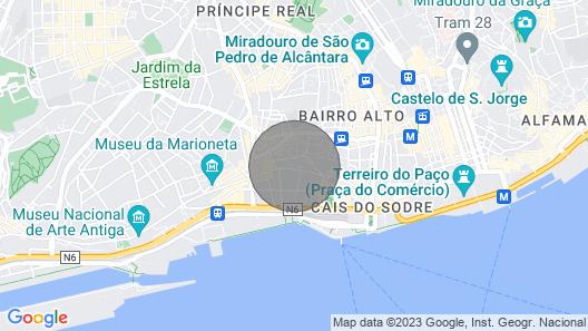 #fiqueemminhacasa - Lisbon - Cais do Sodre Map