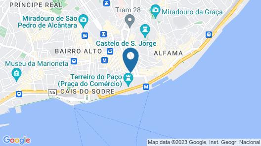 Pestana CR7 Lisboa Map