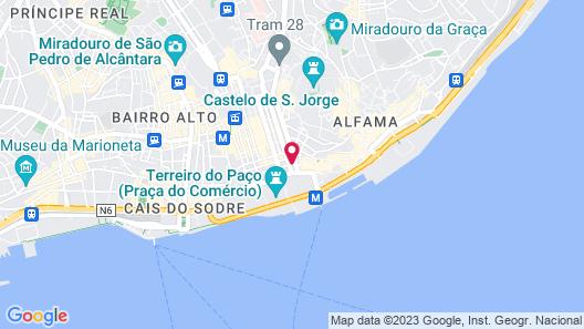 TURIM Terreiro do Paço Hotel Map
