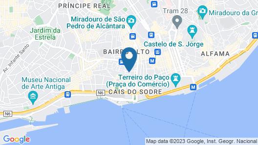 Chiado Cosmopolitan Studio Map