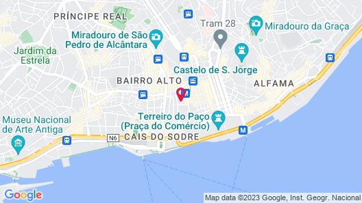 FLORA Chiado Apartments Map