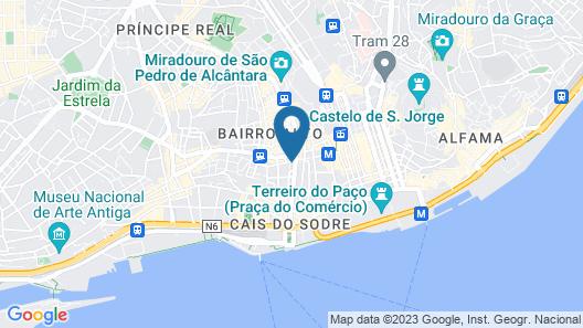 Bairro Alto Hotel Map