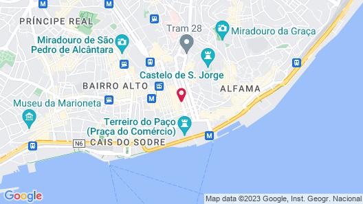 Lisboa Prata Boutique Hotel Map