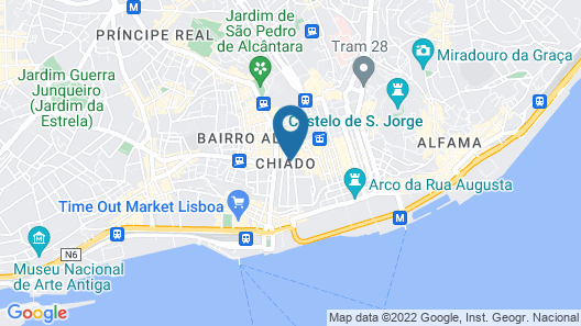 Hotel Borges Chiado Map