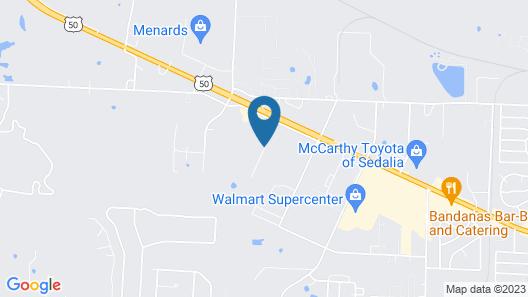 Hampton Inn Sedalia Map