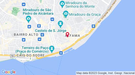 Santiago de Alfama - Boutique Hotel Map