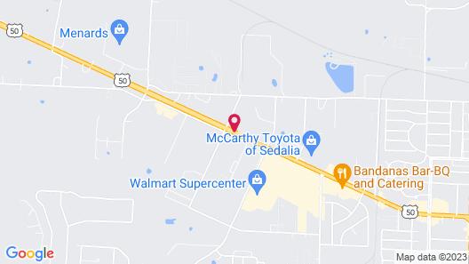 Comfort Inn Sedalia Station Map
