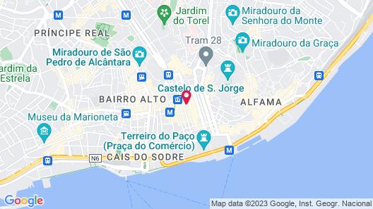 Lisbon Art Stay Apartments Baixa Map