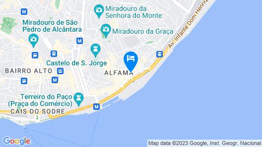 Lisbon Best Choice Prime Apartments Alfama Map