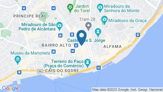 Be Poet Baixa Hotel Map