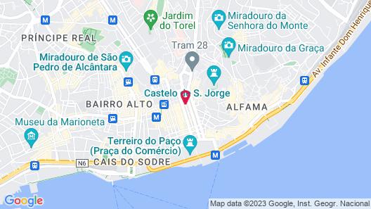 Hotel Lis - Baixa Map