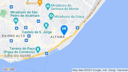 Lisbon Best Choice Apartments Alfama Map