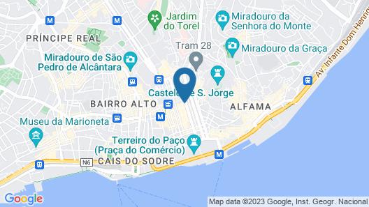Hotel da Baixa Map