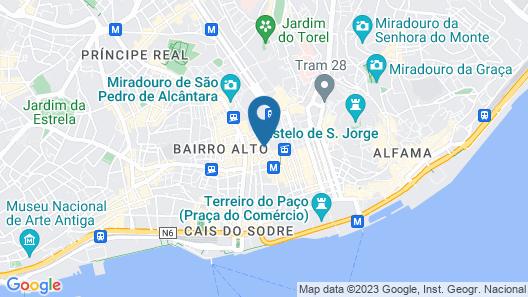Lisboa Carmo Hotel Map