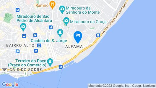 Alfama - Lisbon Cheese & Wine Apartments Map