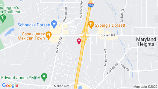 Motel 6 Maryland Heights, MO Map