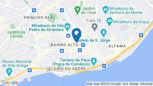 Lisboa Pessoa Hotel Map