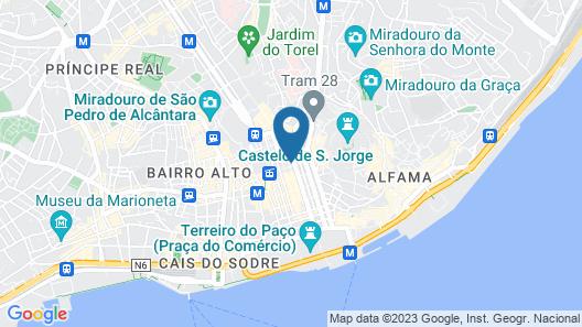 Hotel Santa Justa Lisboa Map