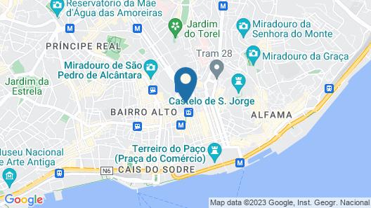 The ART INN Lisbon Map