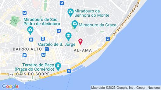 Hotel Convento do Salvador Map