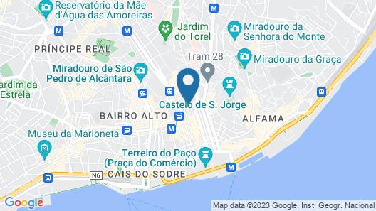 Internacional Design Hotel Map