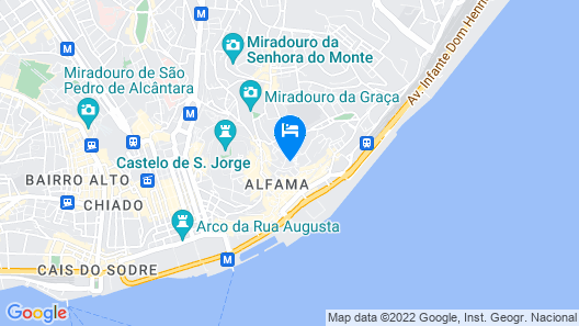 Almamater Lisbon Apartments Map