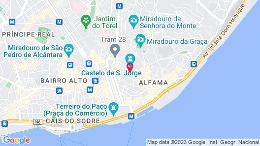 Solar Do Castelo, a Lisbon Heritage Collection Map