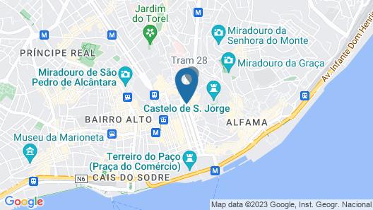 My Story Hotel Tejo Map