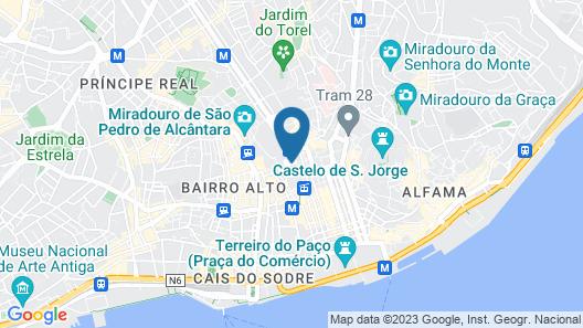 Hotel Inn Rossio Map