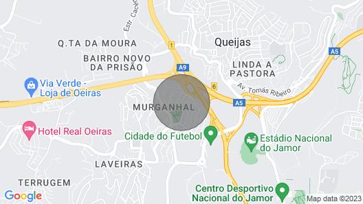 Yellow House Nesr the Beach/city Map