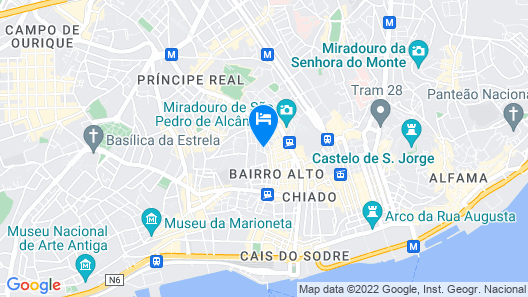 My Suite Lisbon Guest House – Principe Real Map