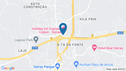 Holiday Inn Express Lisbon - Oeiras Map