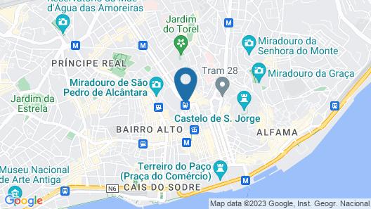 Lisbon Destination Hostel Map