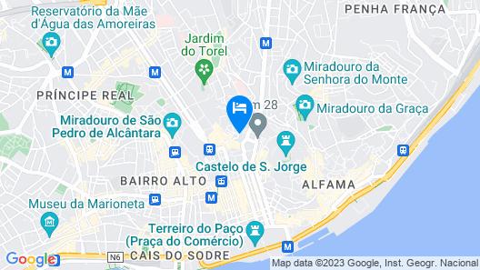Light Blue Apartments - Downtown Lisbon Map