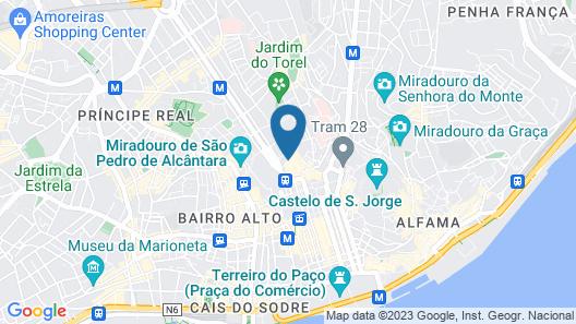 Rossio Garden Hotel Map