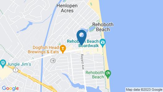 The SandCastle Motel Map