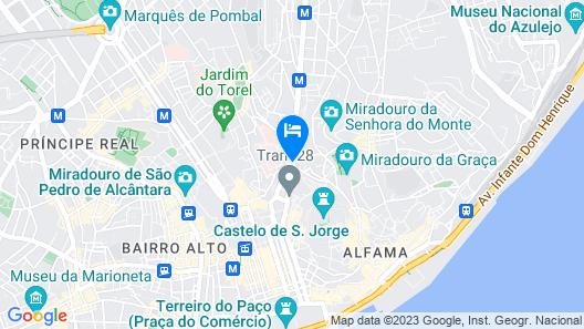 Sweet Inn Apartments -  Martim Moniz Map