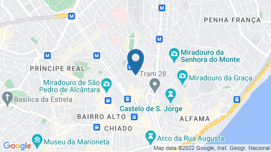 Rossio Penthouse Three-Bedroom Apartment w/ River View and Parking - by LU Holidays Map