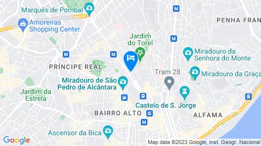 Heritage Avenida Liberdade, a Lisbon Heritage Collection Map