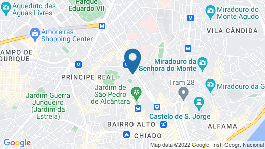 Sofitel Lisbon Liberdade Map