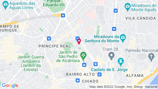 Hotel Lisboa Plaza, a Lisbon Heritage Collection Map
