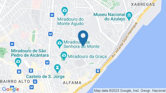 Dona Graca Lisbon Apartments Map