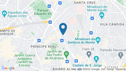Hotel Britania, a Lisbon Heritage Collection Map
