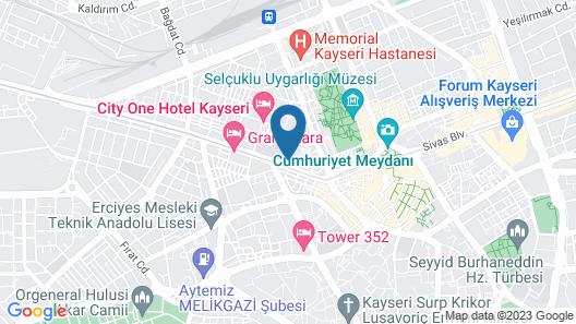 Holiday Inn Kayseri - Duvenonu Map