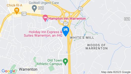 Holiday Inn Express Hotel & Suites Warrenton, an IHG Hotel Map