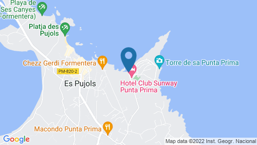 Hotel Club Sunway Punta Prima Map
