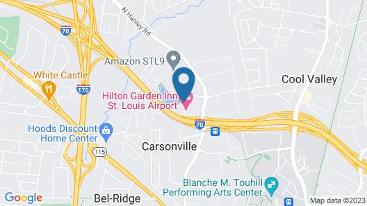 Hilton Garden Inn St. Louis Airport Map