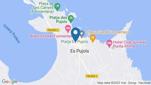 Apartamentos Es Pujols Map